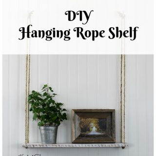 DIY Pallet Wood Hanging Rope Shelf