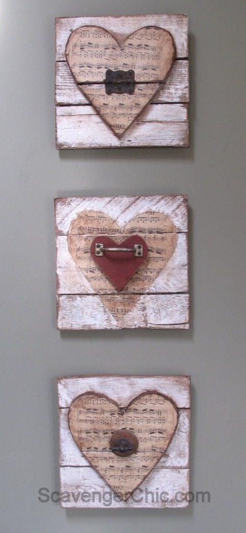 wooden hearts for crafts talk of the town 58 my repurposed 174 5772