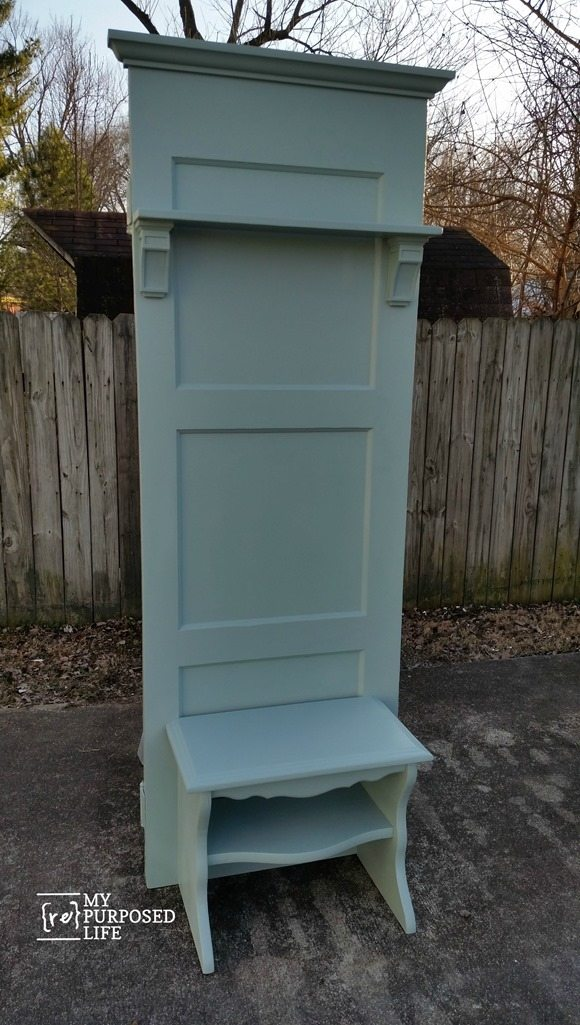 Light Green Diy Door Hall Tree Bench Myrepurposedlife Com