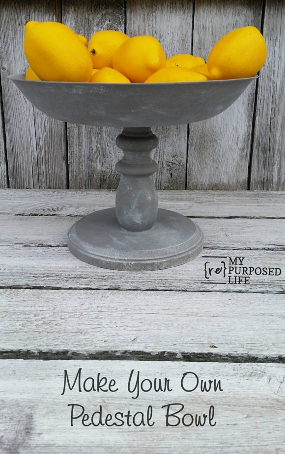 Make your own pedestal bowl out of bits and pieces. If you already have one, and are looking to update it, tips for painting and more included in this easy to follow tutorial. #myrepurposedlife #easy #diy #pedestal #bowl #project #rustic via @repurposedlife