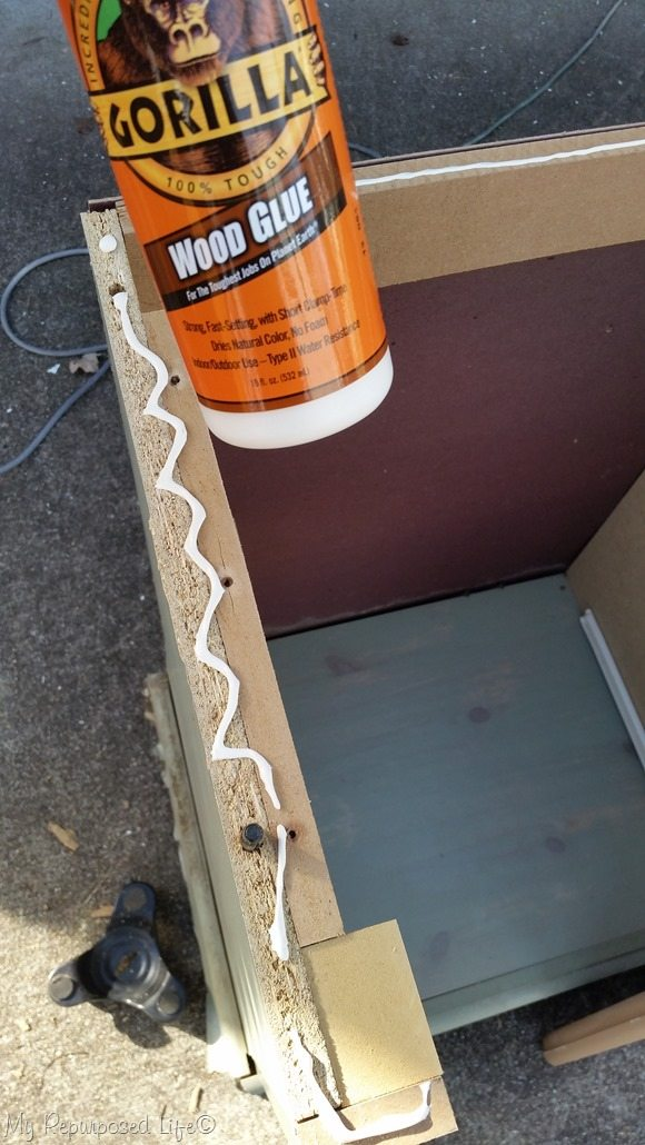 replace small portion of dresser top using gorilla wood glue