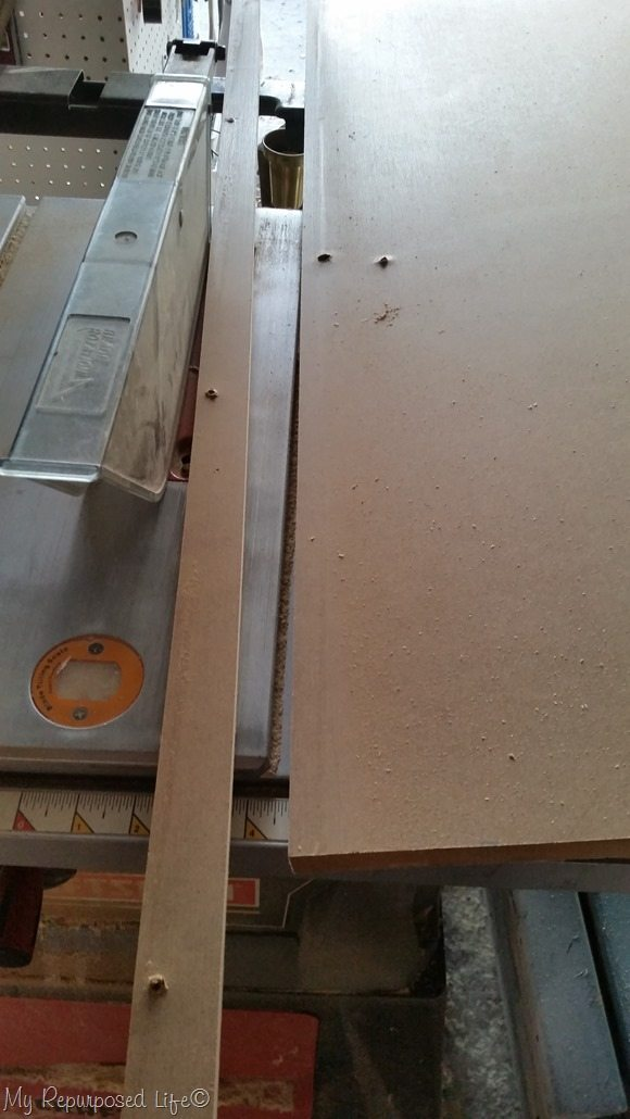 rip dresser top on table saw
