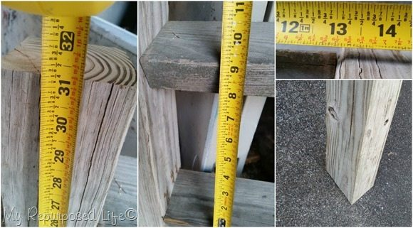 rustic ladder display measurements MyRepurposedLife.com
