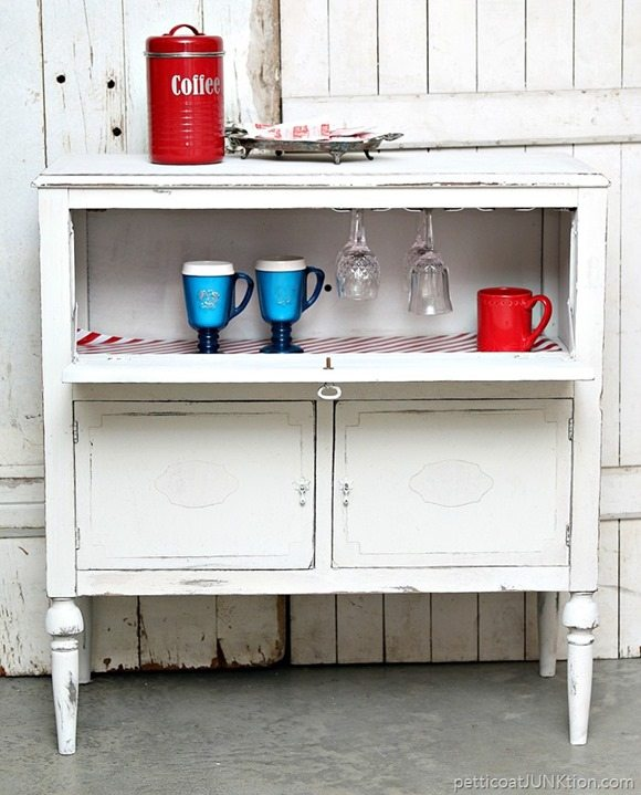 shabby beverage cabinet