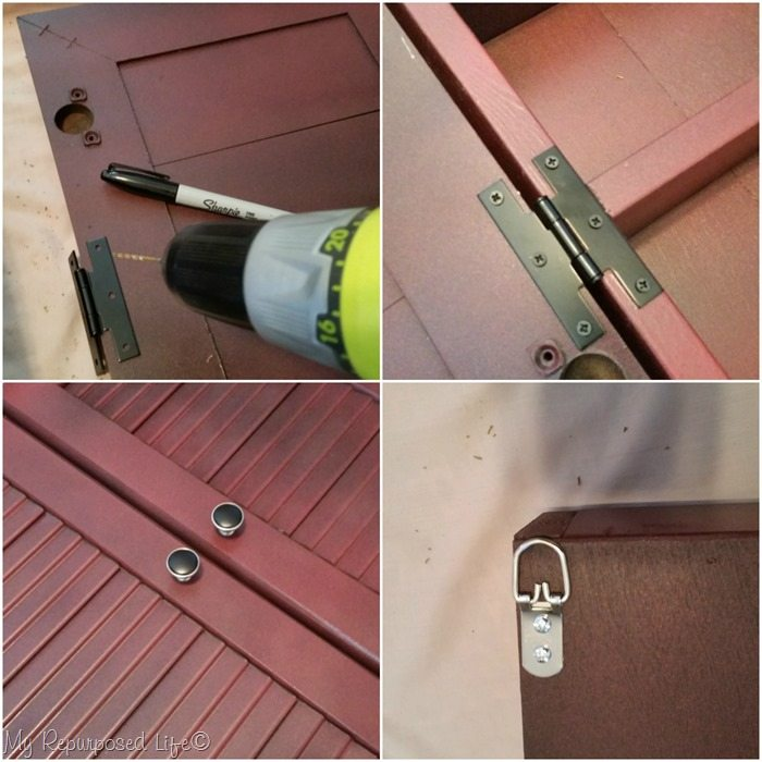 attach hinges knobs and d rings