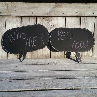 DIY Chalkboard Speech Bubbles