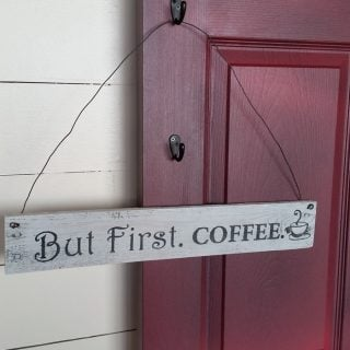 How To: Easy Pallet Sign | But First. Coffee