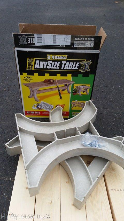 hopkins any size table 2x4 farmhouse bench parts