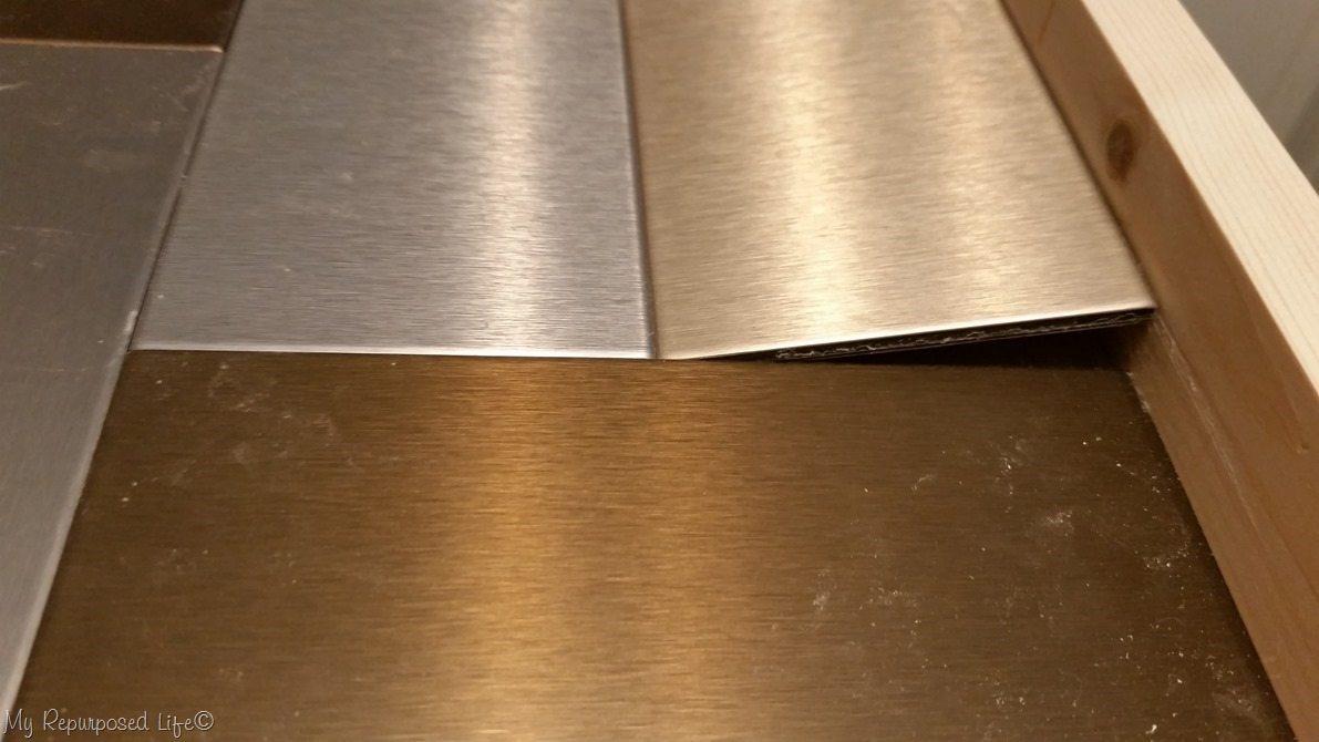 insert metal tiles diy tray