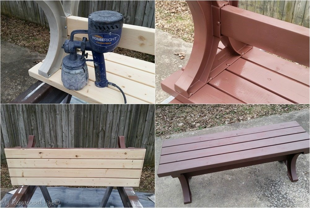 paint bench with homeright finish max MyRepurposedLife.com