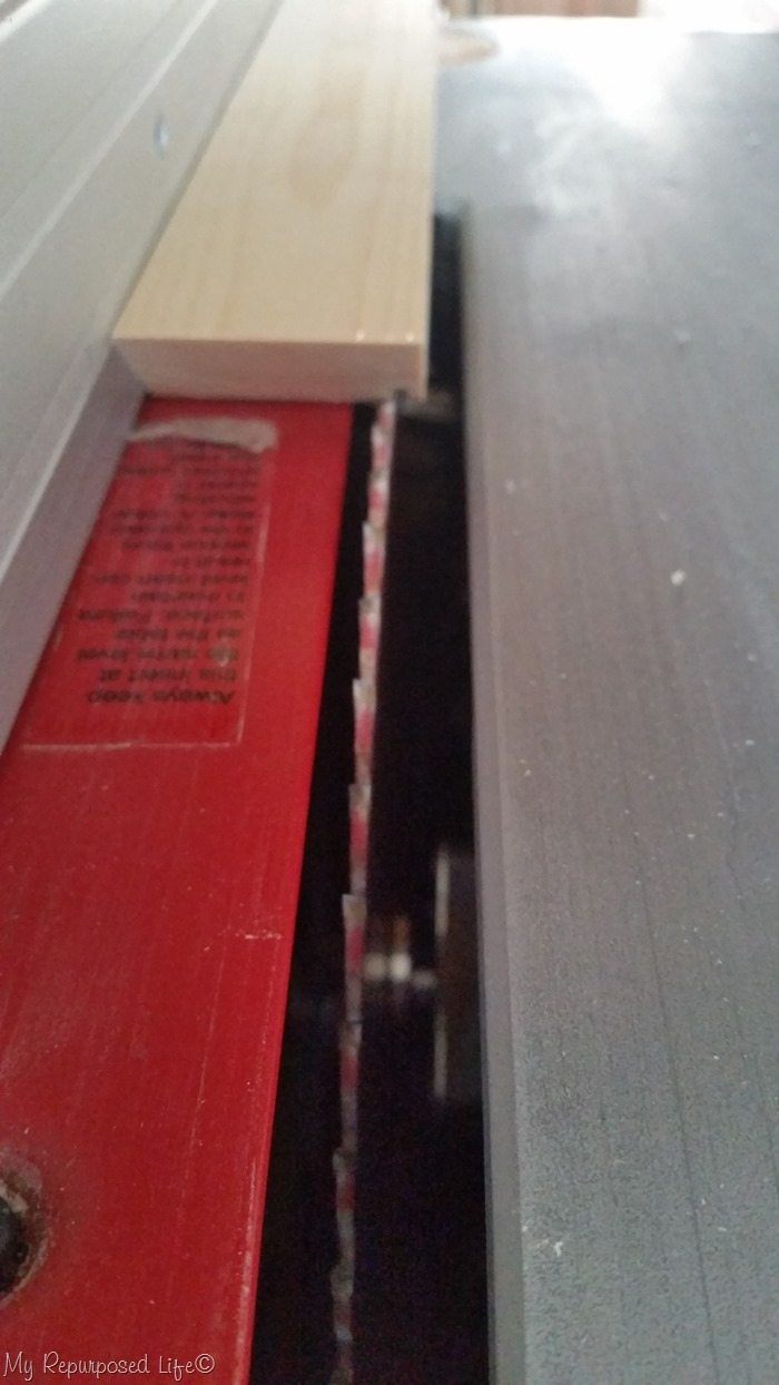 table saw groove cut