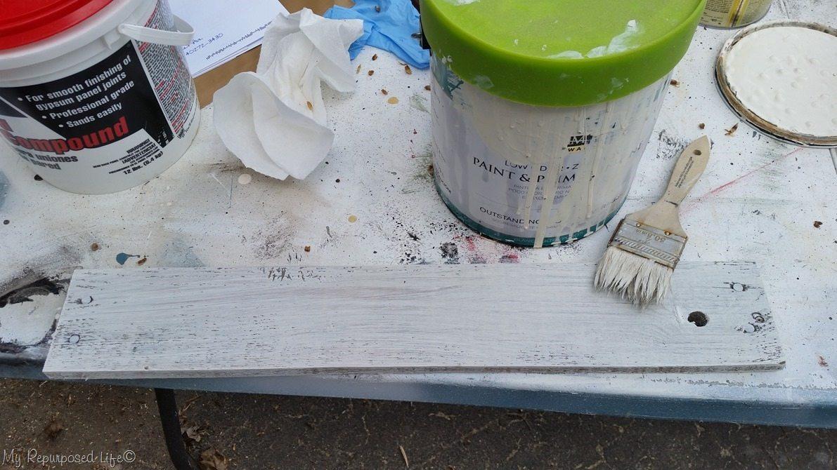 whitewash pallet board