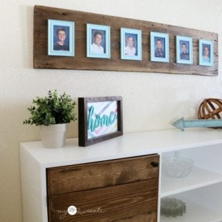 Reclaimed Wood Photo Display