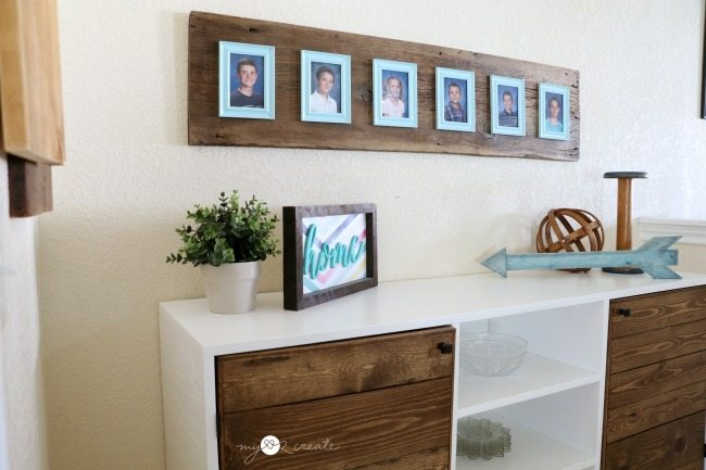 Reclaimed Wood Photo Display - My Repurposed Life®