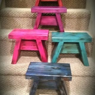 Cute One Board Benches