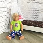 Repurposed Chair Doll Bed