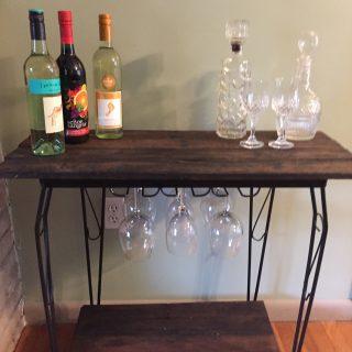 Fish Tank Stand = Rustic wine bar