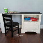 Kid's Chalkboard Desk using Repurposed Nightstand