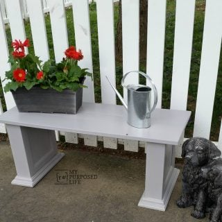 Repurposed Cabinet Door Bench