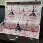 How to Line a Suitcase | Vintage Suitcase Makeover
