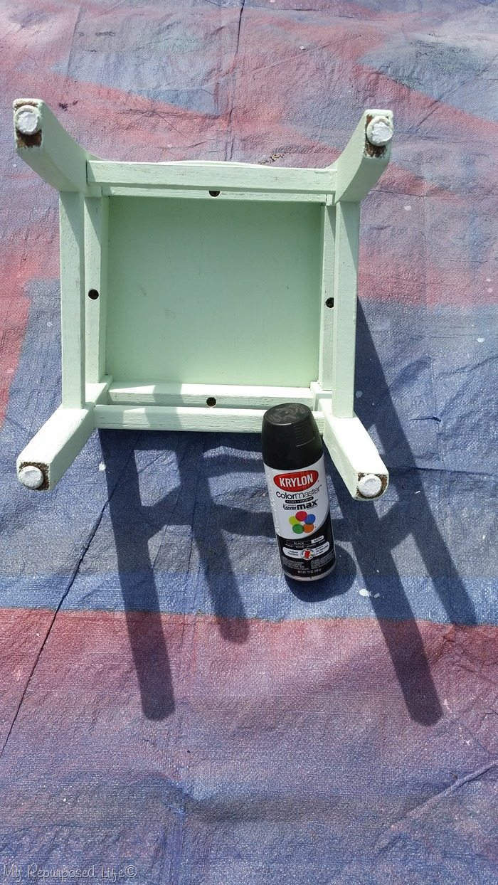 repurposed furniture for kids. Paint Kids Chair With Spray Repurposed Furniture For