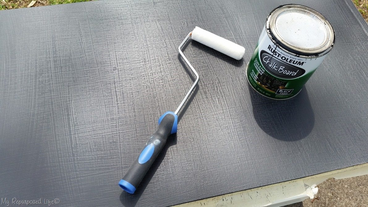 roll chalkboard paint