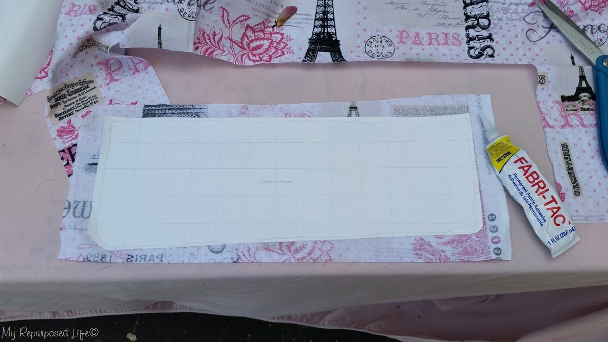 secure fabric to paper pattern