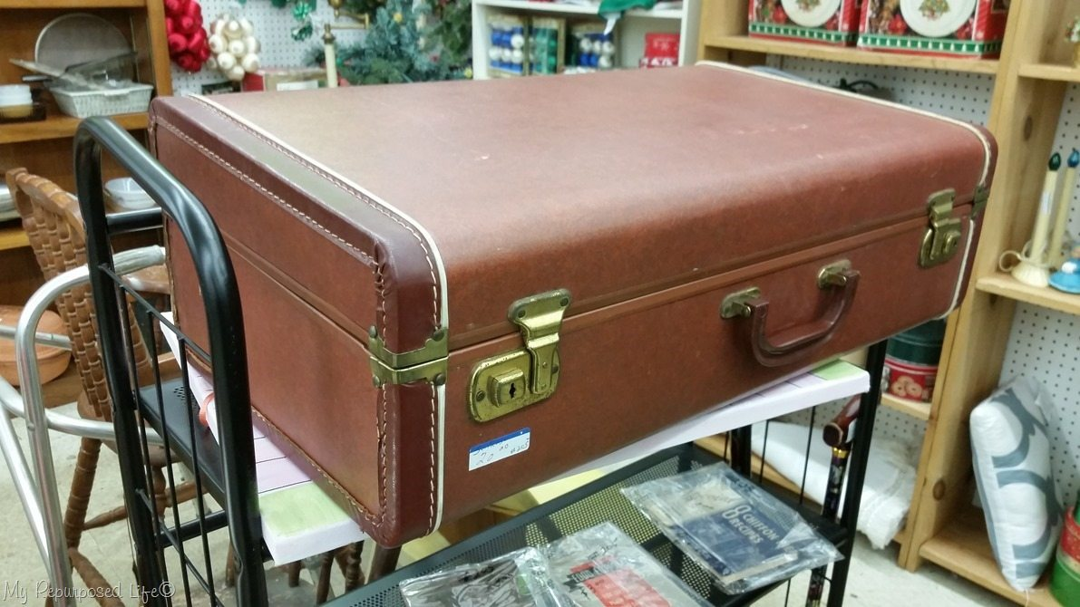 How To Line A Suitcase Vintage Suitcase Makeover My