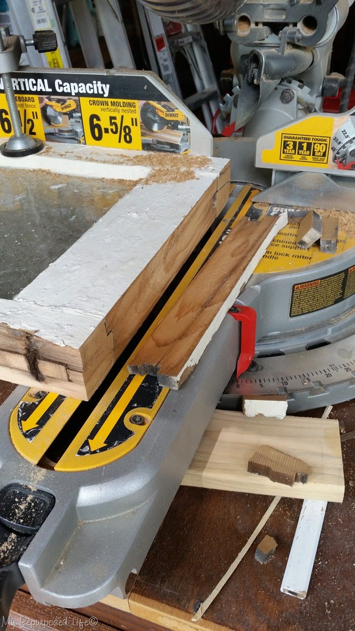 cut window frame miter saw