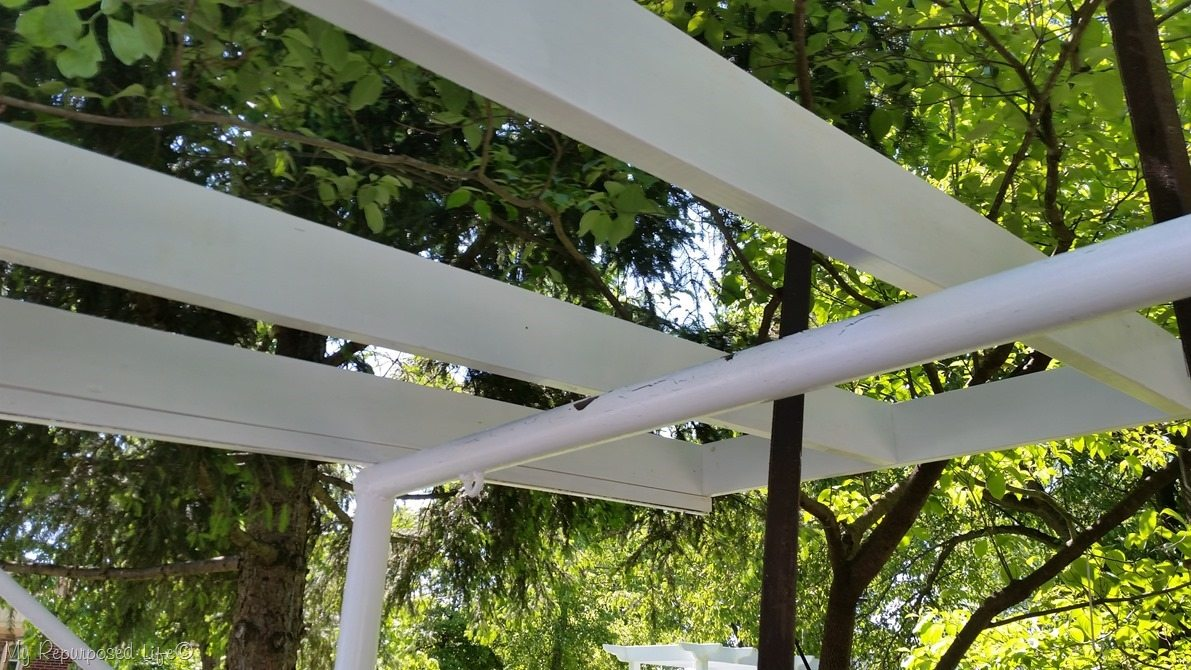 fit pergola boards in notches
