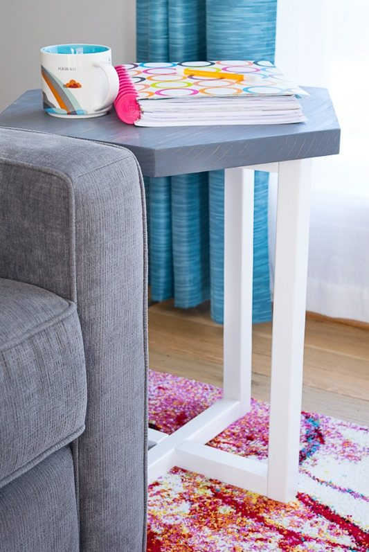 hexagon-side-table-in-living-room