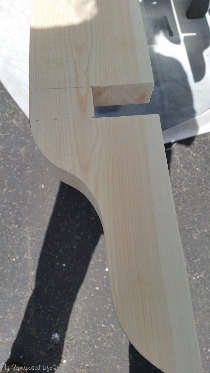 notch 2x6 pergola board