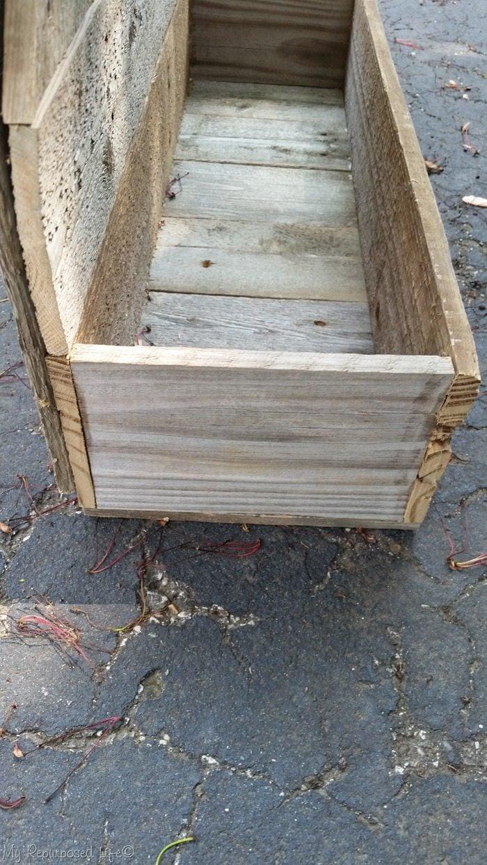 planter box on faux gate