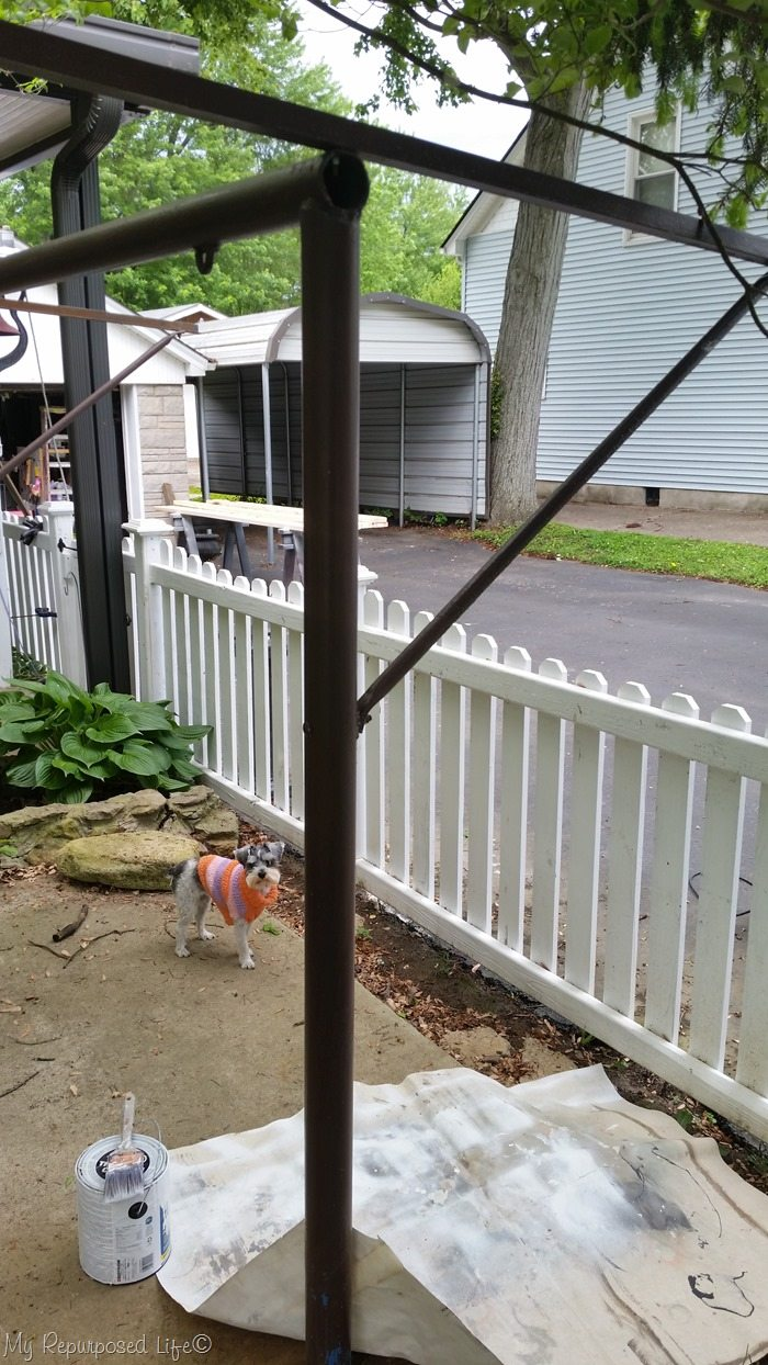 porch swing area makeover