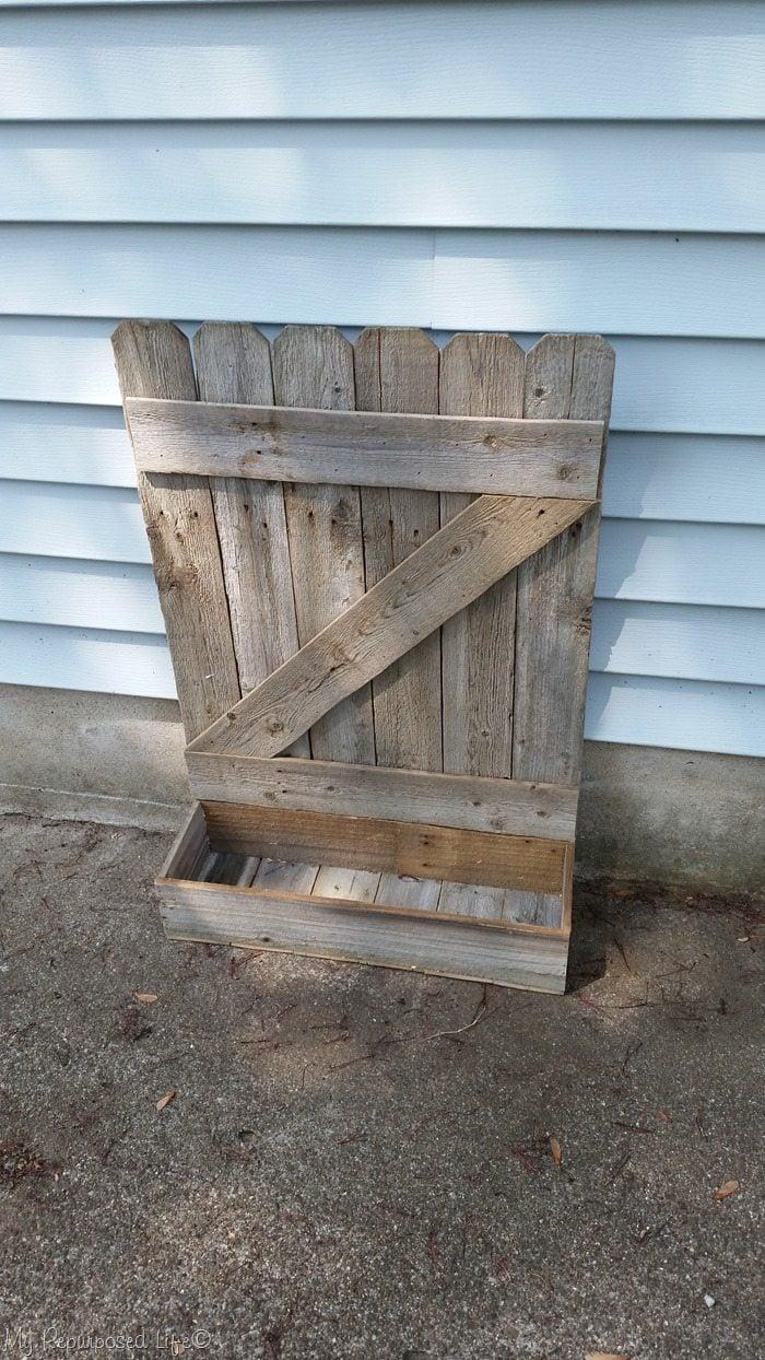 rustic gate faux planter box