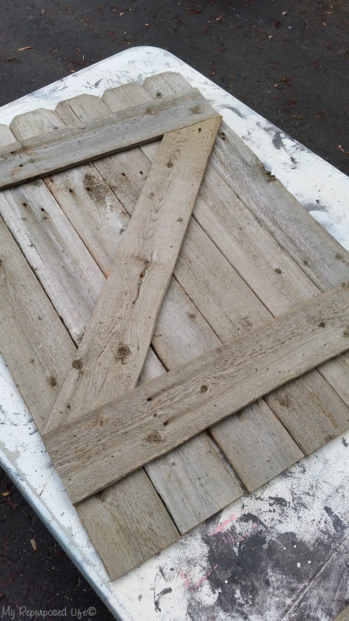 small faux rustic gate