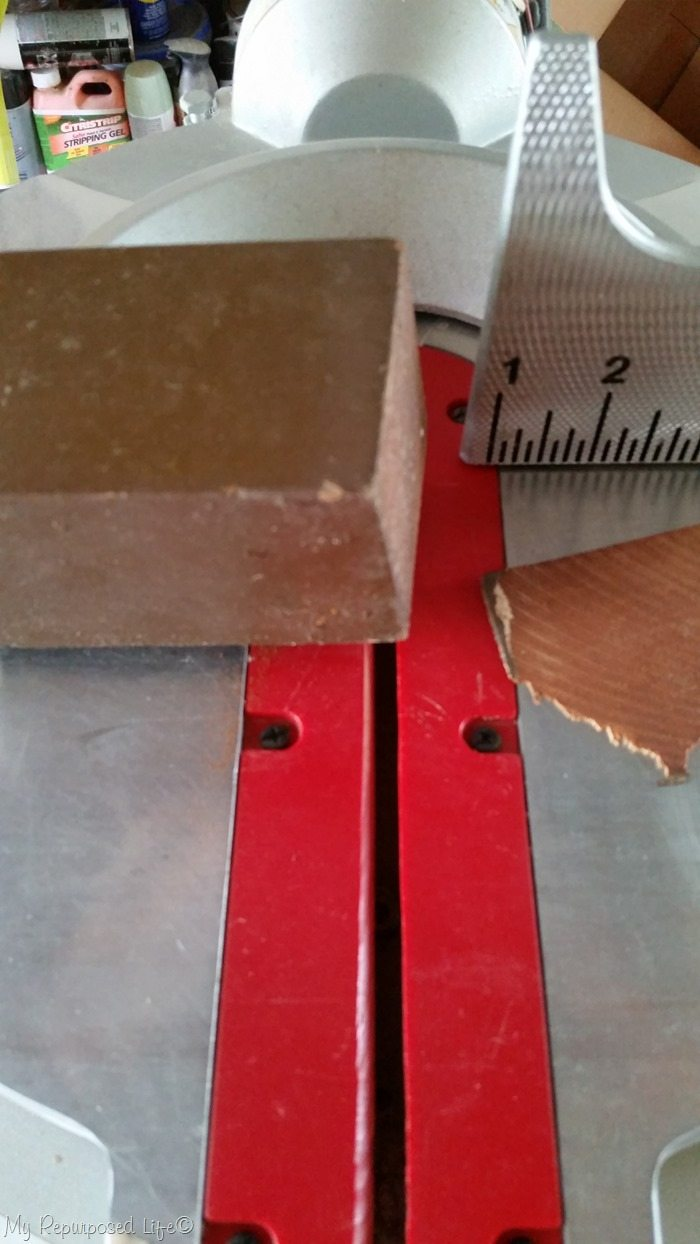 trim table leg top