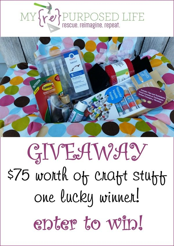 75 dollars craft stuff giveaway MyRepurposedLife.com