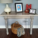 DIY Console Table made from a Table Leaf and odd Table Legs