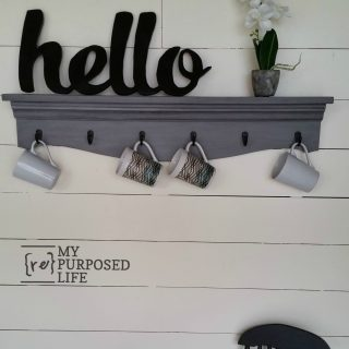 gray glazed shelves