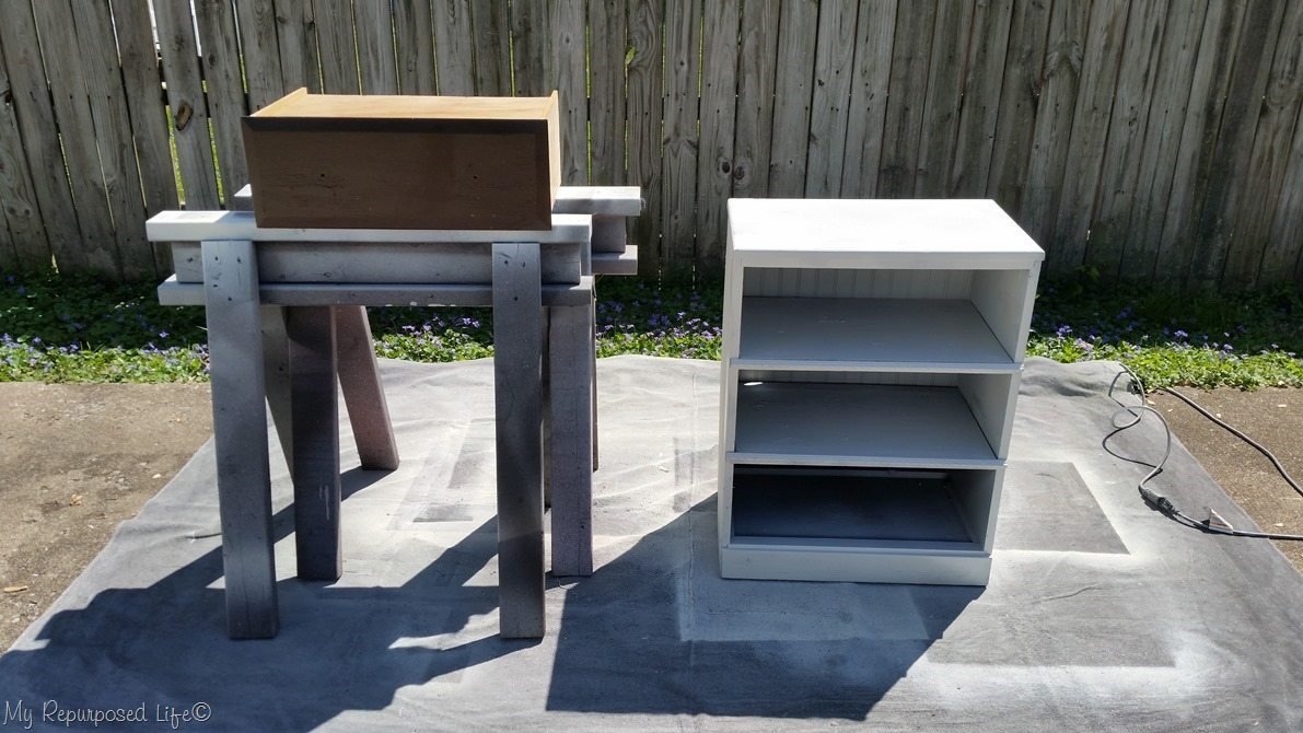 how to paint sprayer drawer