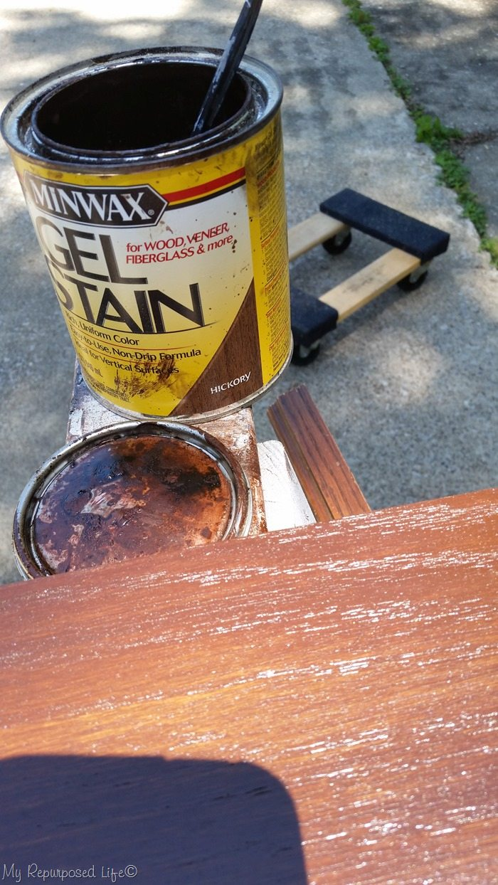 minwax gel stain hickory