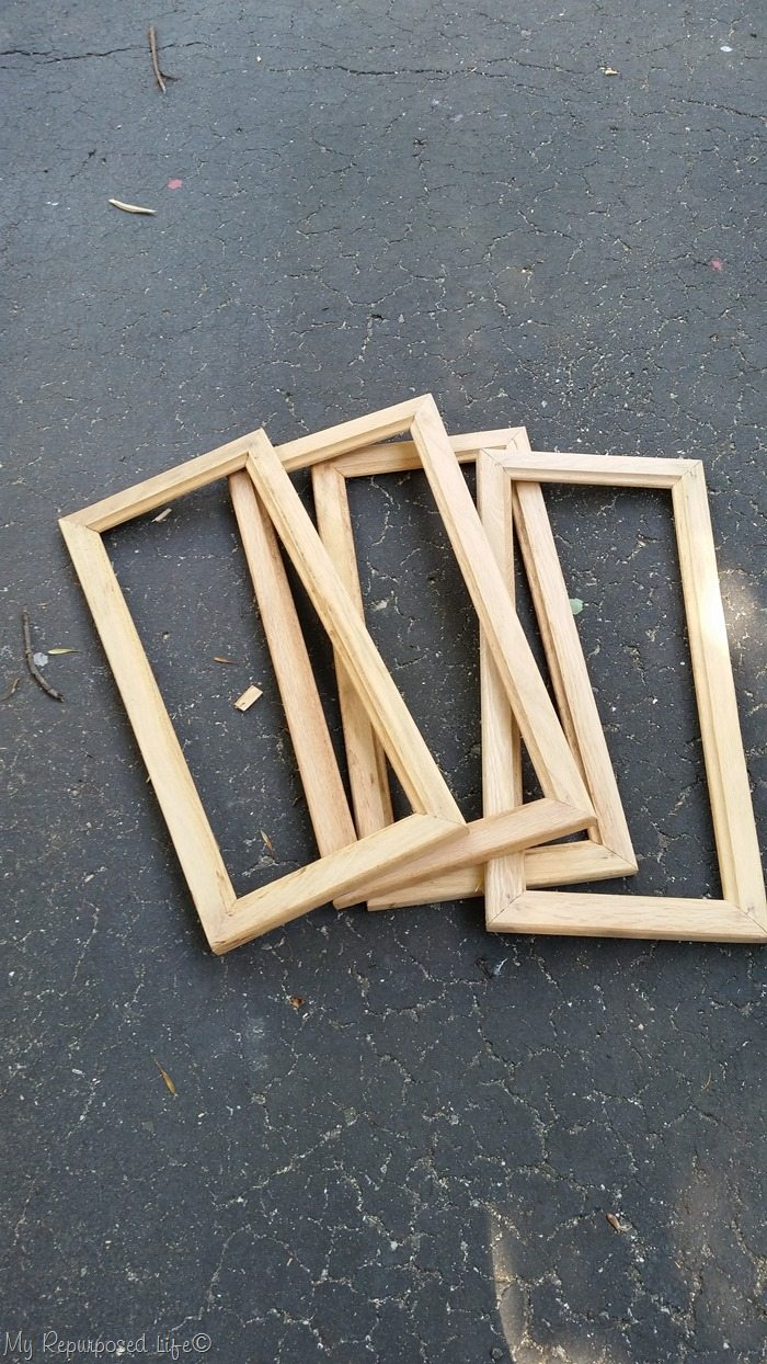 oak cabinet door pieces