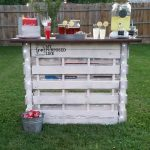 Portable Folding DIY Pallet Bar – great for weddings, tailgating and more!