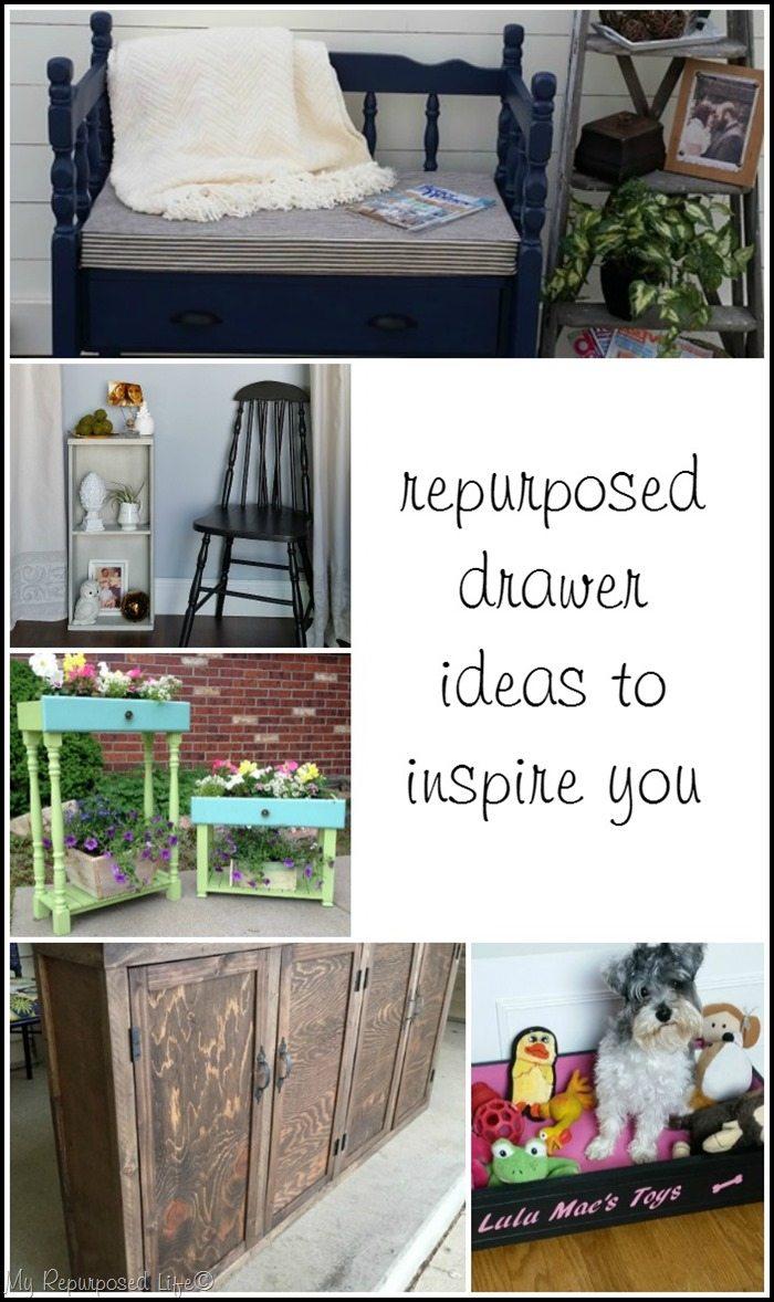 repurposed drawer ideas to inspire you from MyRepurposedLife.com