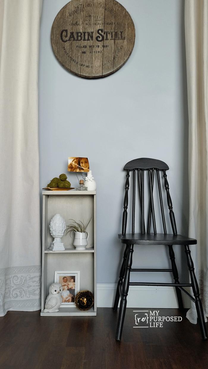 small glazed shelf made from a kitchen drawer MyRepurposedLife