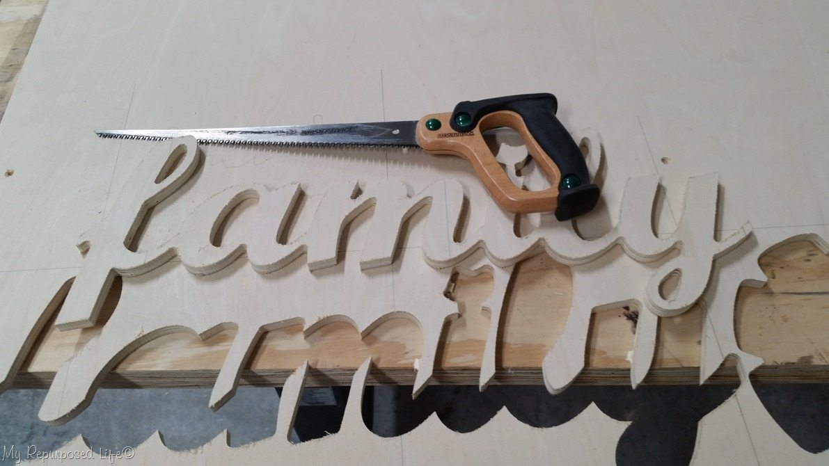trim cnc family sing with hand saw