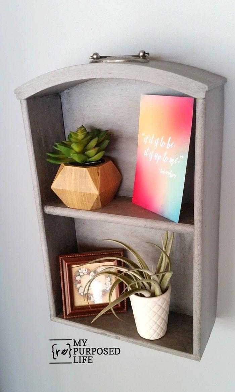 vintage dresser draw wall shelf MyRepurposedLife