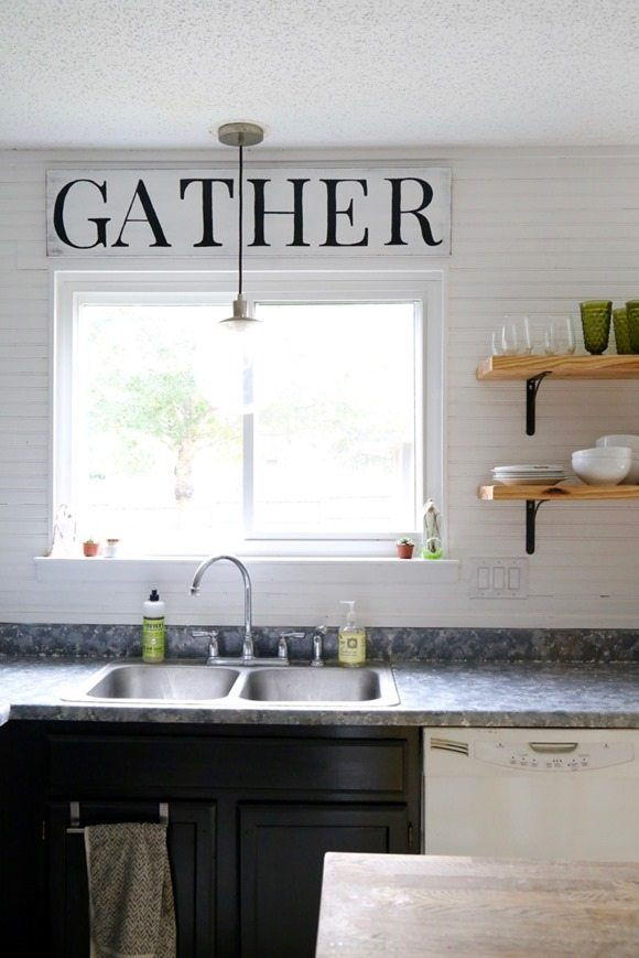 Fixer Upper Inspired Kitchen Sign featured at Talk of the Town at Knick of Time