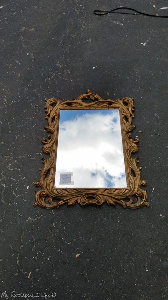 gaudy gold mirror